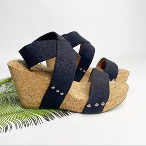 Lucky Brand Marinah Wedge Sandal 7.5